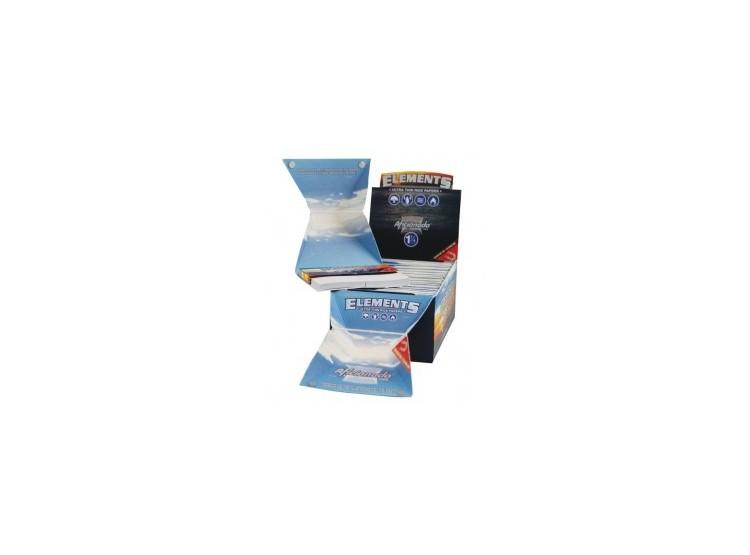 Papelillos Elements Aficionado 1 1/4 con bandeja y filtros de cartón 1 Unid
